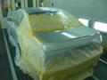 メルセデス ベンツ E320   (W211) 板金 塗装 落書き傷 修理 事例
