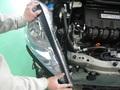 フィット シャトル ハイブリット エアロパーツ 塗装 取り付け事例