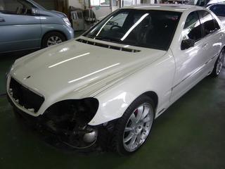 メルセデス ベンツ S320 (W220) 板金 塗装 自動車修理事例